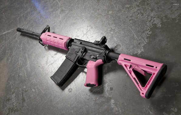 Picture pink, ar15, assault rifle