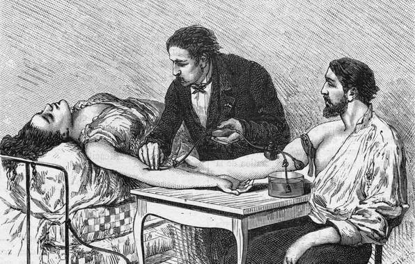 Wallpaper Dr., medicine, a blood transfusion, sick woman