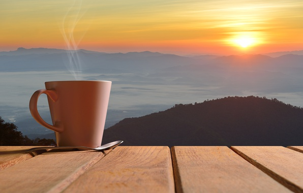 Picture dawn, coffee, morning, Cup, hot, coffee cup, good morning