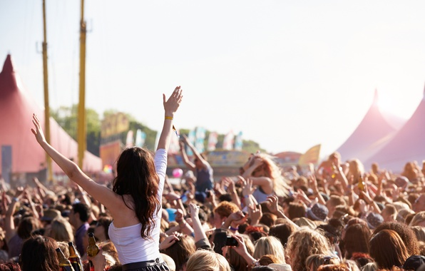 Picture music, party, crowd, Concert