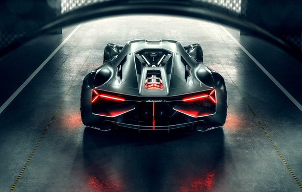 Photo wallpaper Lamborghini, Light, Hypercar, Rear, The Third Millennium