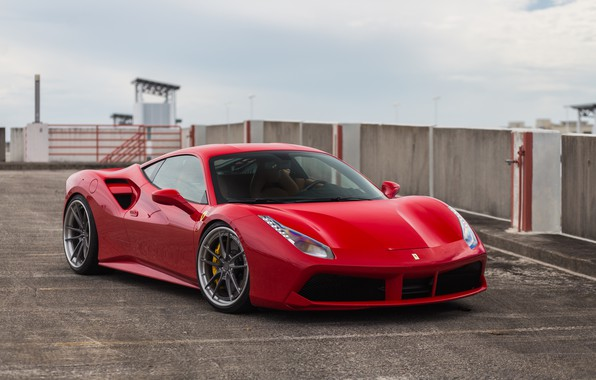 Picture Ferrari, GTB, Wheels, Anrky, F488