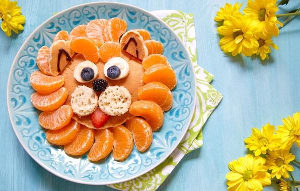 Picture Board, Plate, Chrysanthemum, Tangerines, Citrus