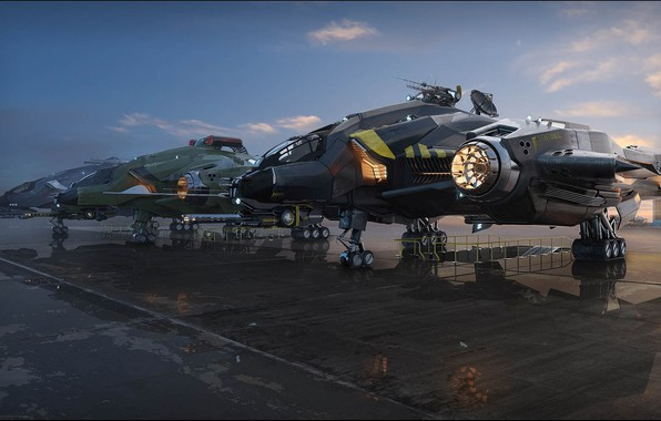 Picture Parking, aircraft, Vanguard Variants