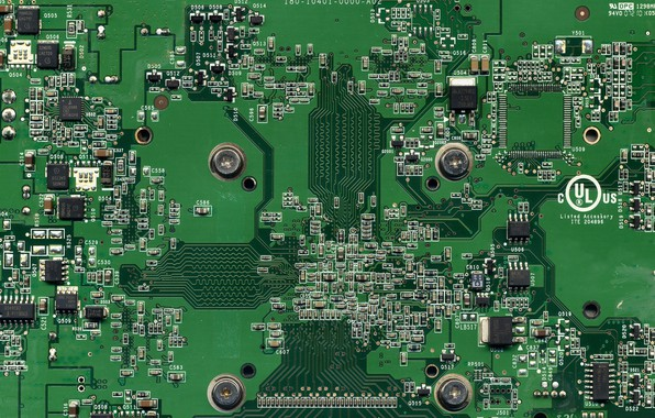 Picture macro, background, computer circuit board