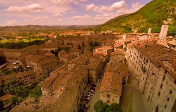 Picture Home, Panorama, Roof, Italy, Building, Italy, Blur, Italia, Panorama, Gubbio, Gubbio
