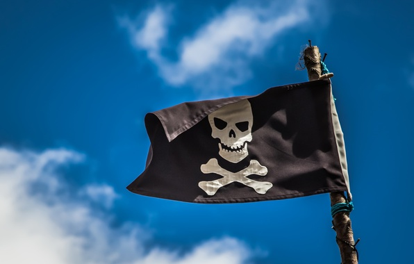 Picture the sky, flag, pirates