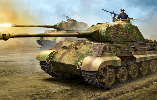 Picture figure, Germany, tank, Tiger II, Heavy, WW2, The Wehrmacht, Panzerkampfwagen VI Ausf. B, King Tiger, …