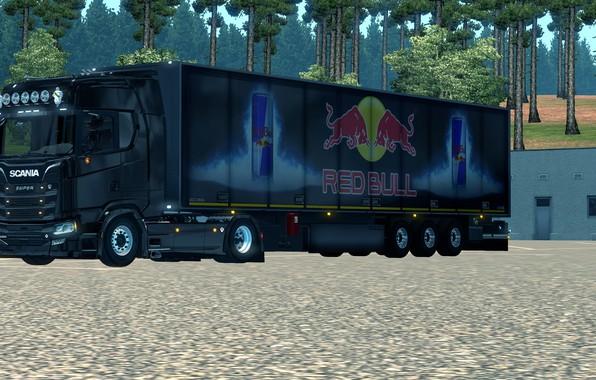 Picture wheels, New, Game, low, Scania, Trailer, fast, RedBull, slow, S-line, lowered, elsa3dany1design, EuroTruckSimulator, lowdeck, elsa3dany1, …