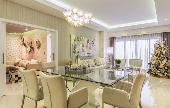 Picture design, tree, chairs, apartment, decor, Studio