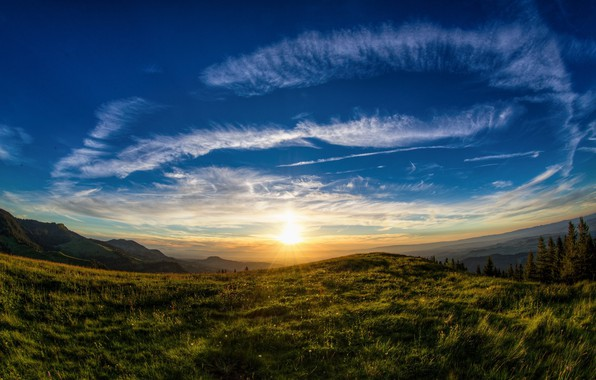 Picture landscape, nature, beauty, morning