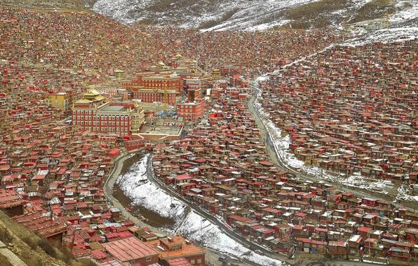 Picture Sichuan, Čengdu, Larung Gar Buddhist Academy Sertar county