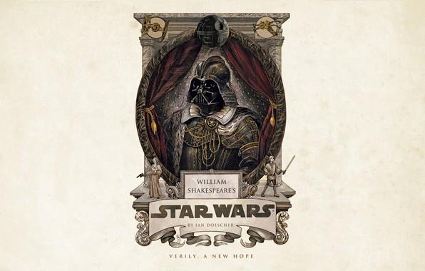 Picture Star Wars, Darth Vader, fantasy, minimalism, science fiction, sci-fi, movie, film, artwork, Luke Skywalker, simple …