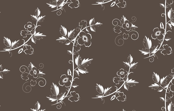 Picture vector, texture, retro, with, flowers, pattern, floral