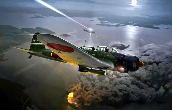 Picture Japan, painting, Nakajima, WW2, The Navy of Imperial Japan, Kate, B5N2, JNAF