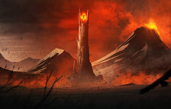 Picture Lord of The Rings, Mordor, Mount Doom, Eye of Sauron