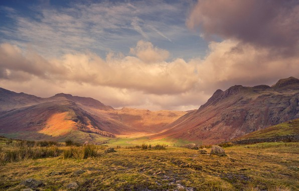 Picture clouds, mountains, England, Cumbria