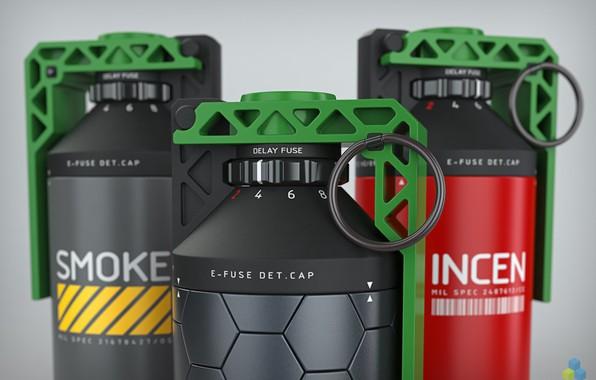 Picture smoke, weapon, grenade, fragmentation grenade, hand grenade, smoke grenade, by pixelquarry, incendiary, incendiary grenade, fragmentation