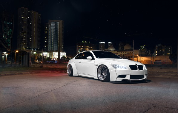 Picture BMW, Front, White, E92, Liberty, Walk