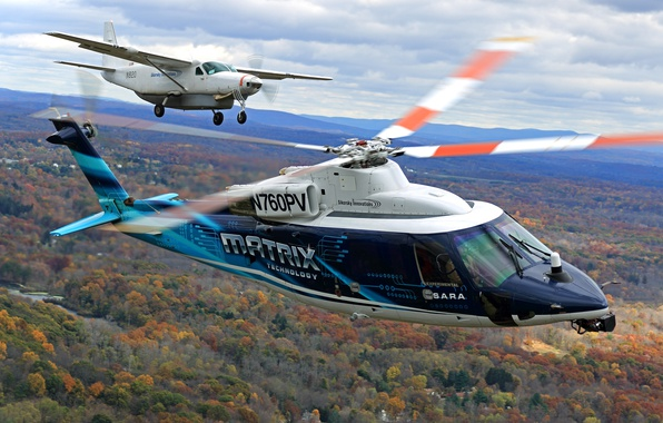 Picture flight, the plane, helicopter, blades, Sikorsky, MATRIX