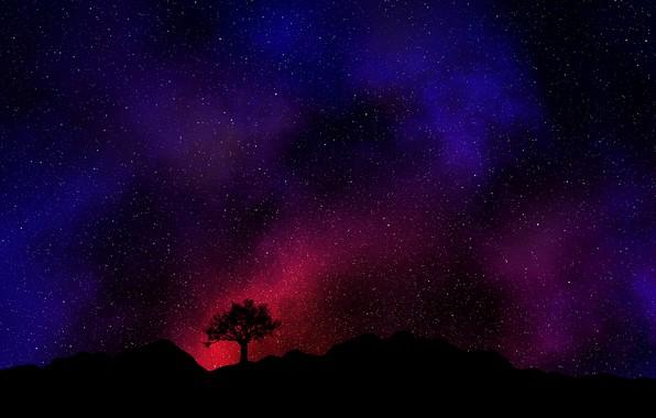 Picture dark, red, black, Space, Galaxy