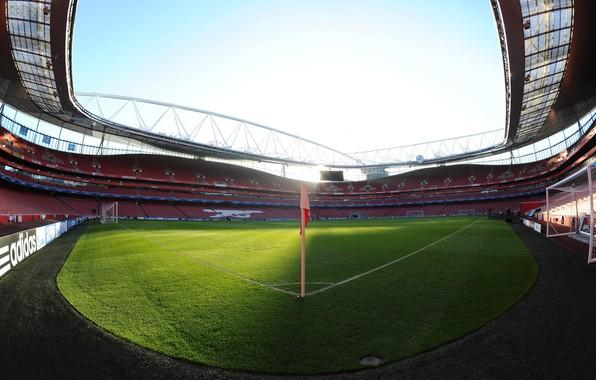Picture wallpaper, sport, stadium, football, Emirates Stadium, Arsenal FC