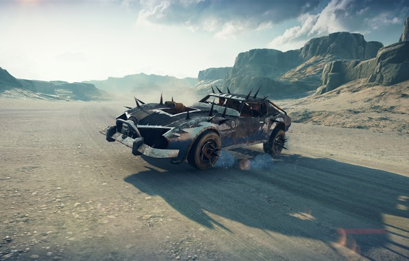 Picture car, game, sky, Mad Max