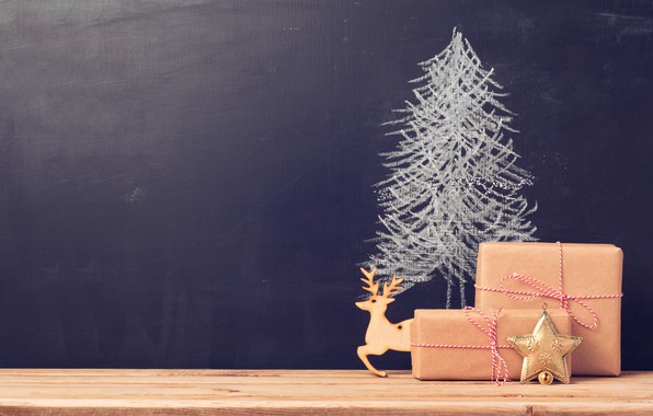 Picture toy, tree, new year, asterisk, Gifts