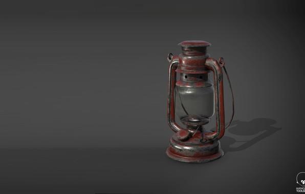 Picture lamp, art, linus bushel, Oil Lamp