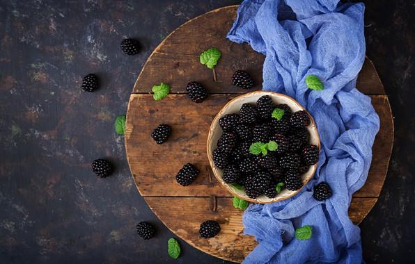 Picture berries, fresh, wood, BlackBerry, blackberry, berries