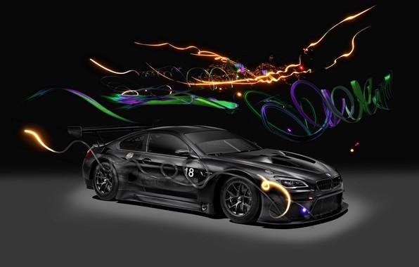 Picture Auto, Machine, Light, BMW, Background, Car, Car, Art, Art, GT3, BMW M6, German, 2017, BMW …