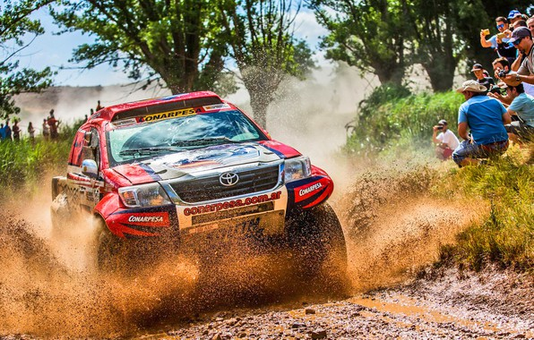 Picture Sport, Speed, People, Race, Dirt, Lights, Toyota, Hilux, Rally, Dakar, Dakar, Rally, Sport, Hilux, The …