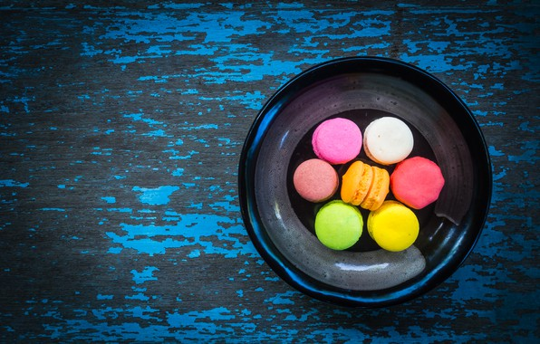 Picture colorful, dessert, wood, cakes, sweet, sweet, dessert, macaroon, french, macaron, macaroon