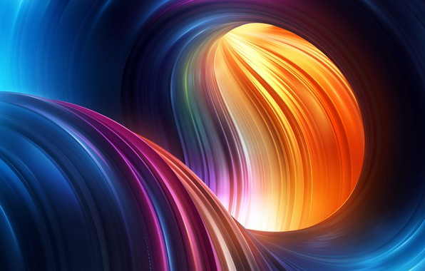 Picture colors, colorful, Abstract, rendering, digital art, shape