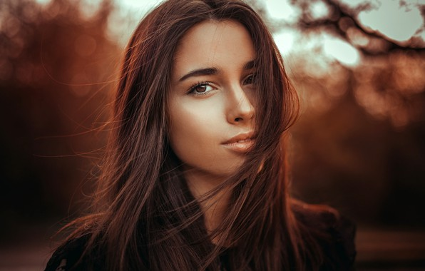 Picture look, background, portrait, makeup, hairstyle, brown hair, beauty, bokeh, kassio. epia