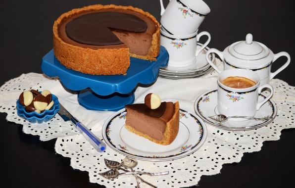 Картинки чашка кофе с тортом