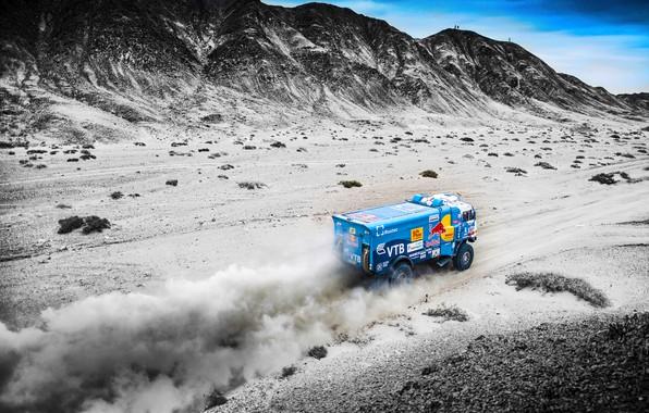 Photo wallpaper The sky, Sand, Nature, Dust, Sport, Speed, Race, Master, Hills, Beauty, Russia, Kamaz, Rally, Rally, ...