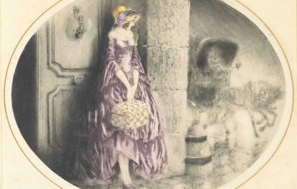 Picture 1929, Louis Icart, Leaving home