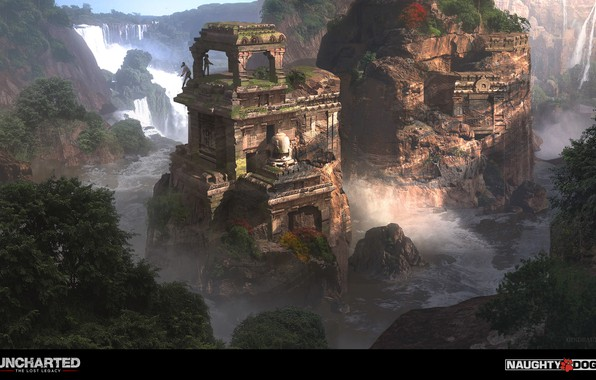 Uncharted Lost Legacy Wallpaper: Wallpaper Mountains, Waterfall, Temple, Uncharted 4 The