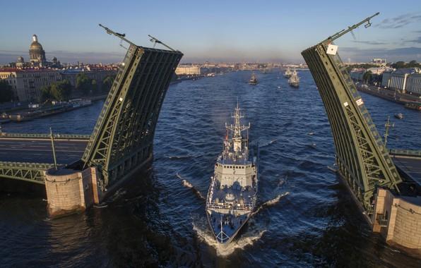 Picture Navy, Neva, minesweeper, Alexander Obukhov