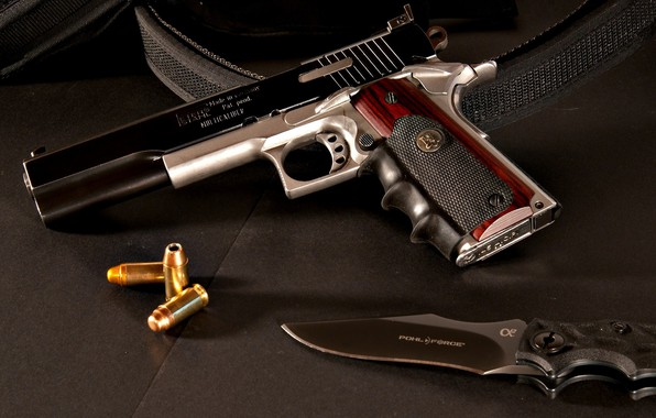 Picture gun, weapons, tuning, knife, gun, cartridges, weapon, custom, custom, M1911, 1911, knife, M1911 pistol