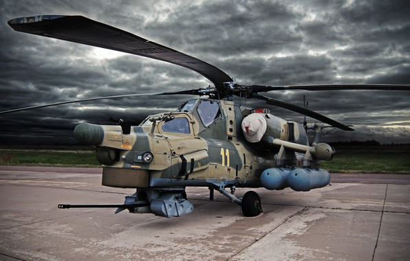 Picture Clouds, Helicopter, Army, Russia, Aviation, BBC, Mi-28N, The spoiler, Night hunter, The Russian air force, …