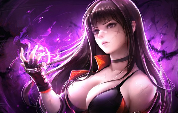 Picture Girl, Chest, Gloves, Dungeon Fighter Online