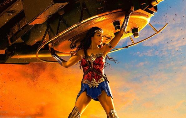 Picture cinema, Wonder Woman, armor, movie, brunette, film, warrior, tank, DC Comics, Diana, strong, Gal Gadot, …