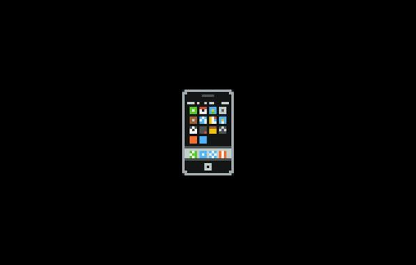 Picture Minimalism, Pixels, Phone, 8bit, Iphone, Smartphone, PXL