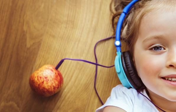 Picture face, creative, mood, headphones, girl, apple music