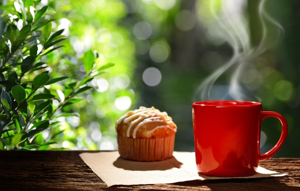 Picture coffee, Breakfast, Cup, hot, coffee cup, cupcake, cupcake, good morning, breakfast