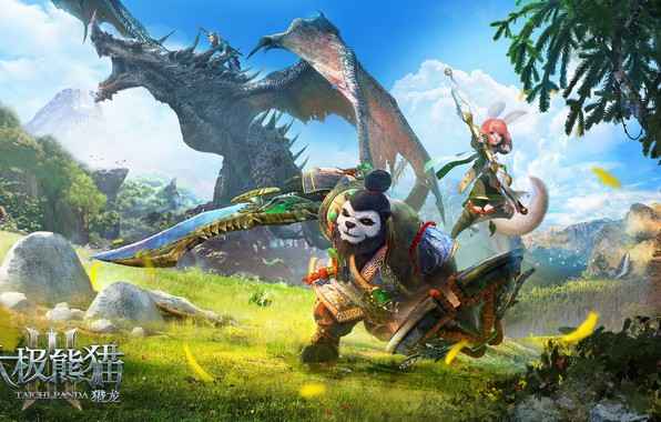 Picture the game, art, the plot, Panda, heroes, Illustrator, mount, Taichi Panda, fang xinyu, Taichi Panda-3D