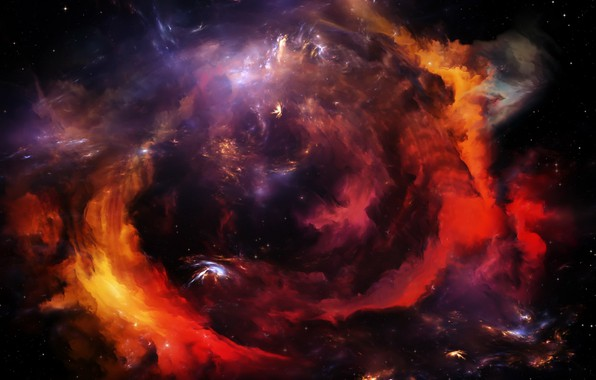 Picture colors, colorful, space, Galaxy, nebula, stars, cosmos