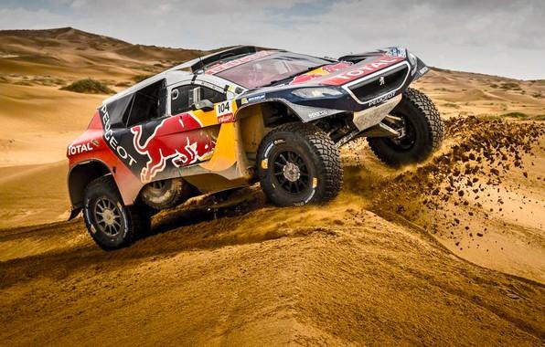 Picture Sand, 2008, Sport, Speed, Race, Peugeot, Heat, Red Bull, Rally, Dakar, Dakar, Rally, Sport, Dune, …